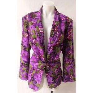 Purple Vintage Blazer Size Medium
